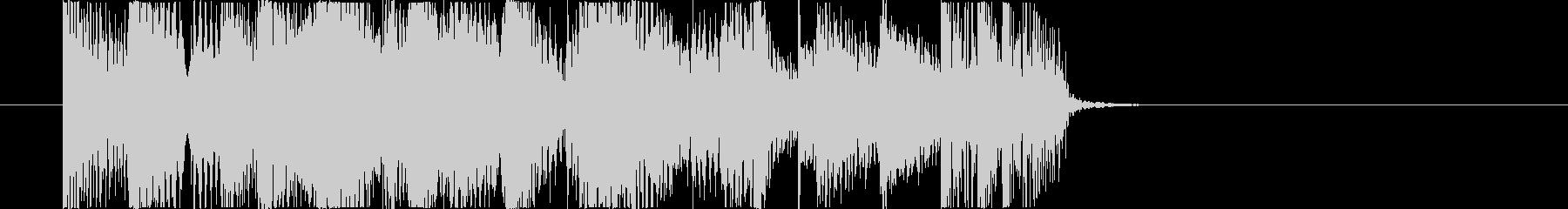 スイングの効いたジャズピアノジングルの未再生の波形