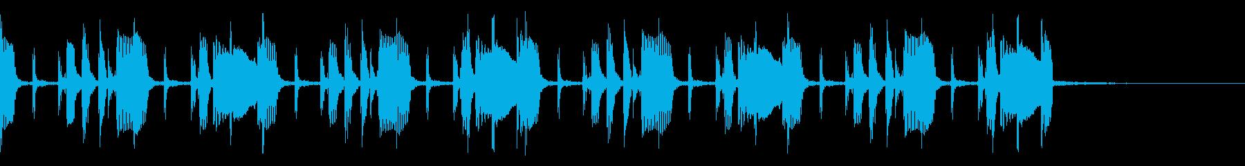 エレキベースのシンプルグルーヴ MCにの再生済みの波形