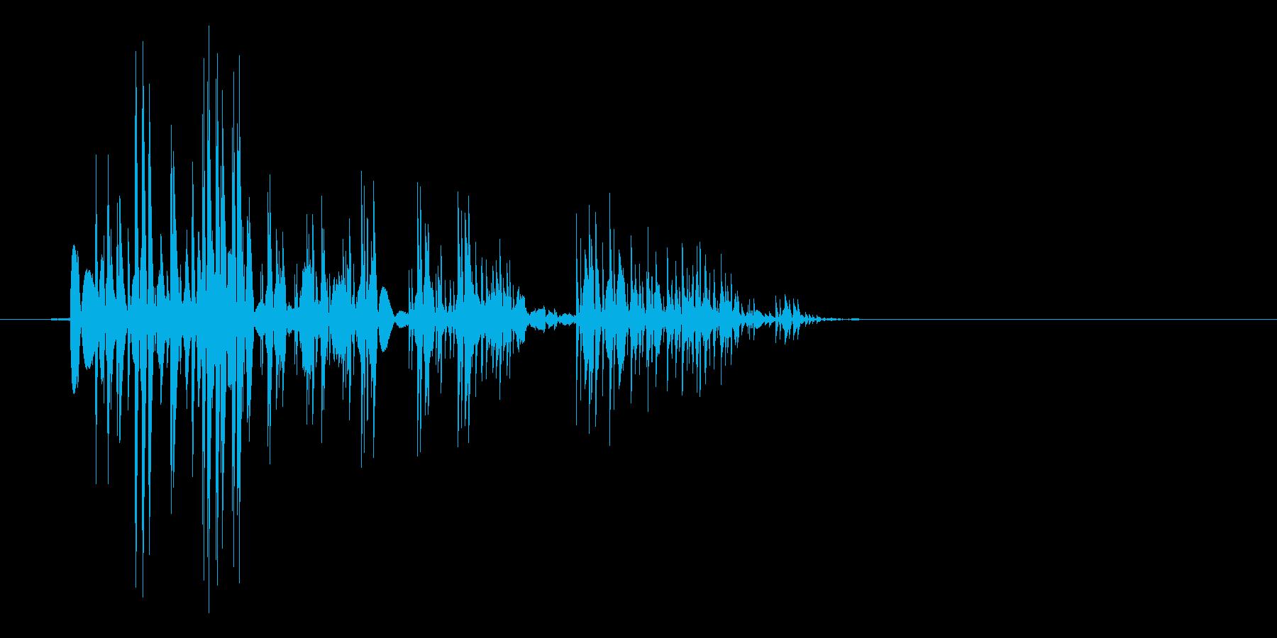 ゲーム(ファミコン風)爆発音_017の再生済みの波形