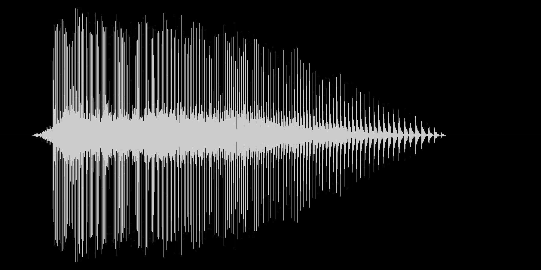 ゲーム(ファミコン風)レーザー音_032の未再生の波形