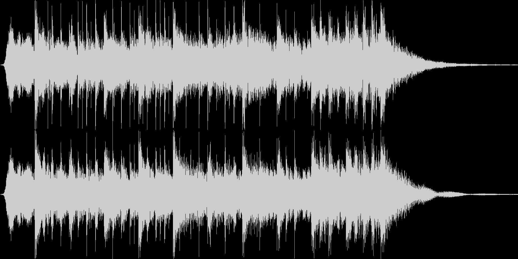 渋め和風サウンドロゴ・カウントダウンの未再生の波形