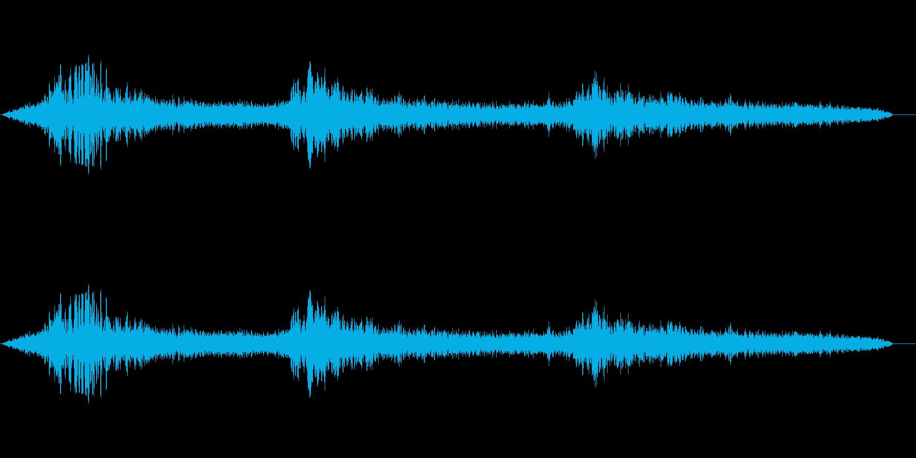 鹿の鳴き声 ヒューンの再生済みの波形