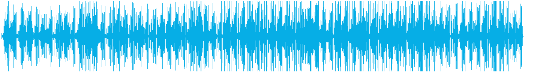 何かに追いかけられるようなジャズブルースの再生済みの波形