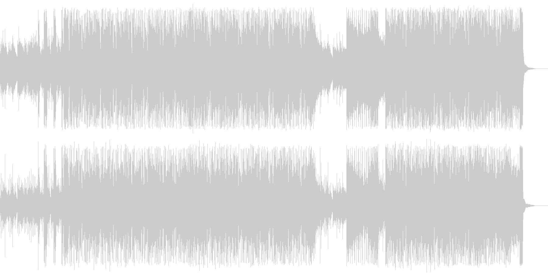 グロッケンの幻想的でテクニカルなロックの未再生の波形