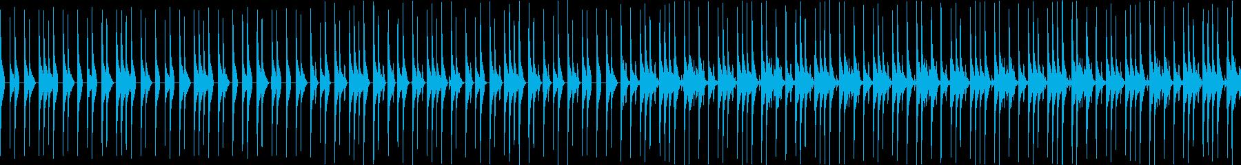 使い勝手のいいドラムループの再生済みの波形