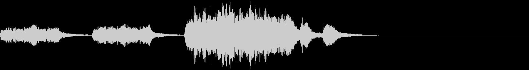 オーケストラによるコミカルホラージングルの未再生の波形