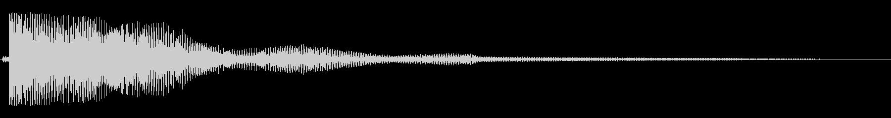 キワァ〜ン(安らかで不思議と耳に残る音)の未再生の波形
