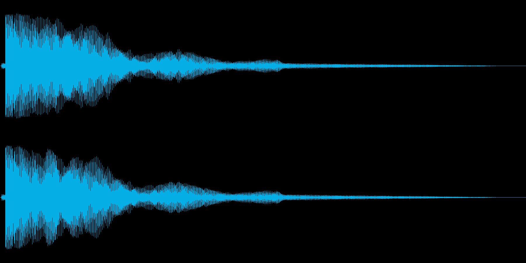 キワァ〜ン(安らかで不思議と耳に残る音)の再生済みの波形