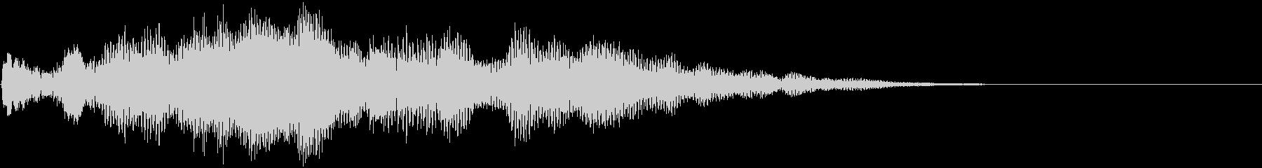 女性ボーカルの神秘的なジングル2の未再生の波形