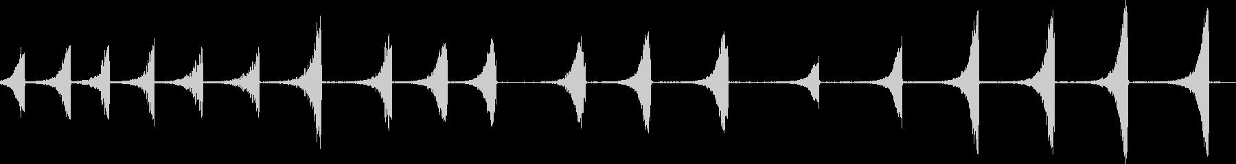 後進の未再生の波形