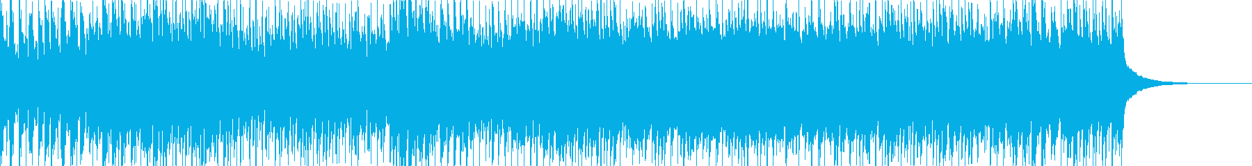 戦闘用の曲。テンションが上がる曲の再生済みの波形