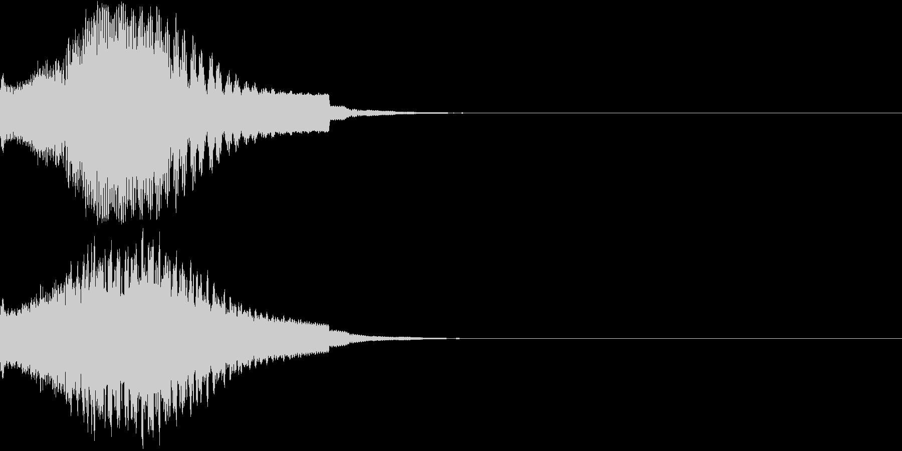 目立つ、カットイン、光る、キュイン02の未再生の波形