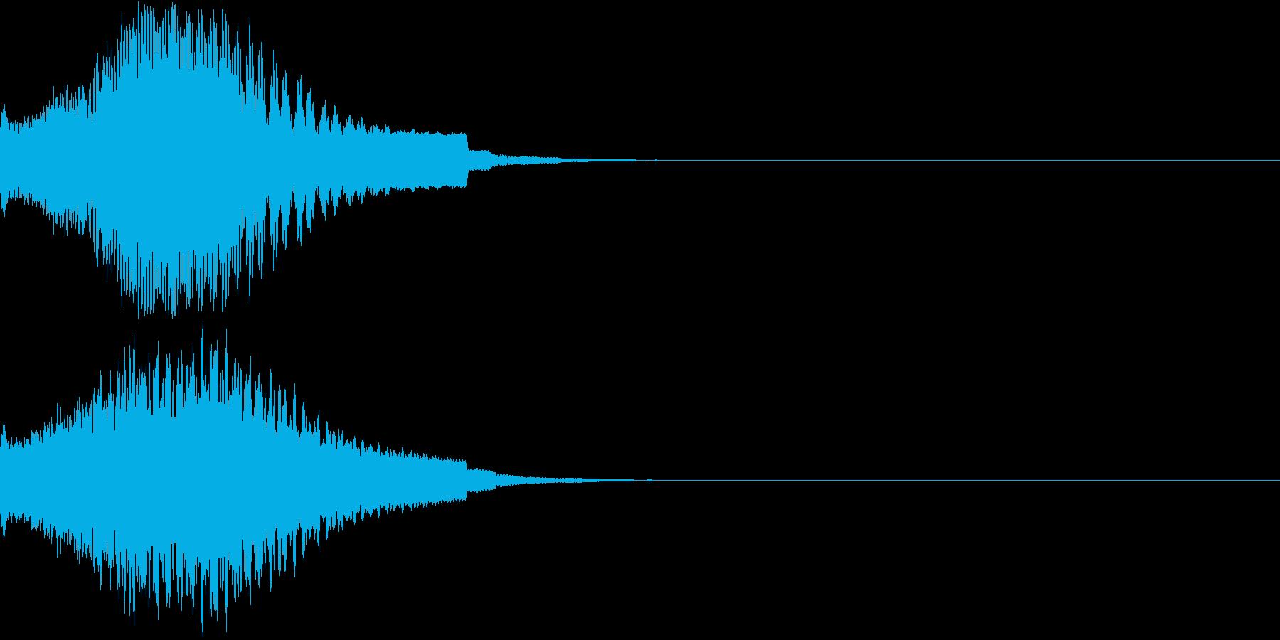 目立つ、カットイン、光る、キュイン02の再生済みの波形