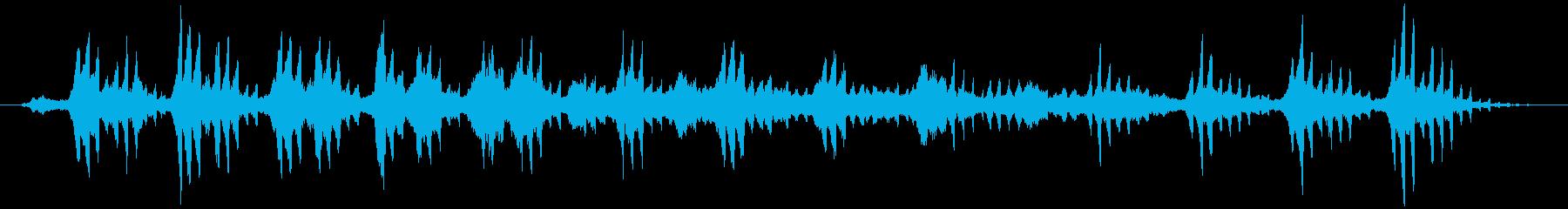 無調的な印象を持つアンビエント系BGMの再生済みの波形