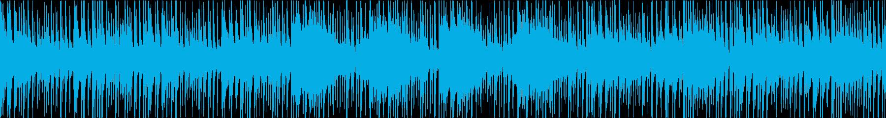 三味線等の和楽器を使ったアッパー和風曲の再生済みの波形