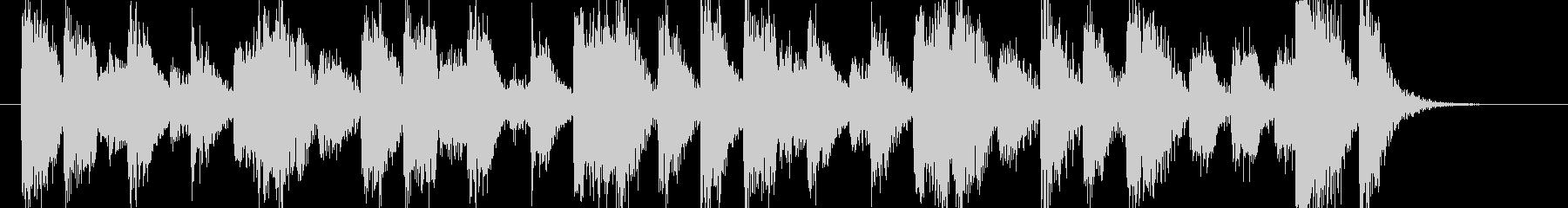 歯切れの良いピアノのジングル002の未再生の波形