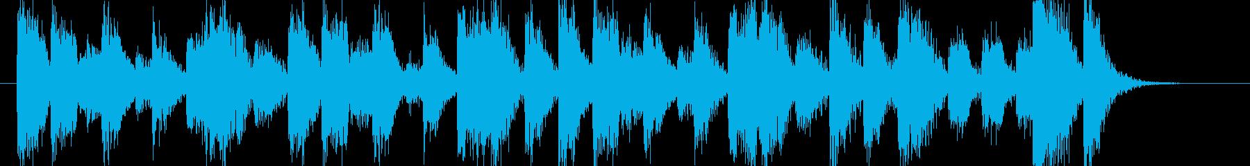 歯切れの良いピアノのジングル002の再生済みの波形