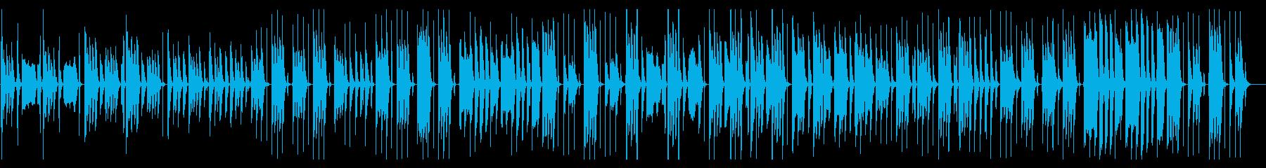 脱力する日常会話系の劇伴の再生済みの波形