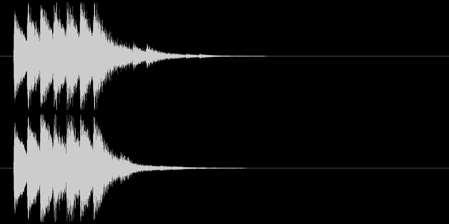 エスニックな効果音の未再生の波形