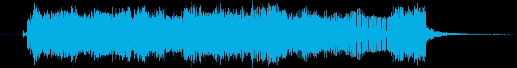 ギターフレーズ008の再生済みの波形