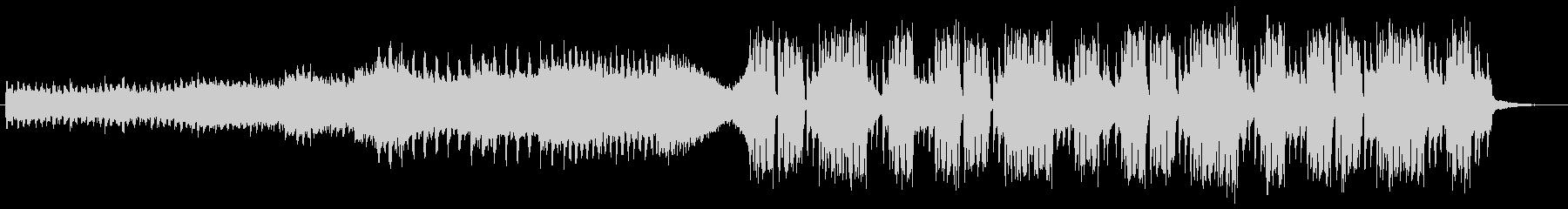 音が前面に出ている変則ビートの未再生の波形