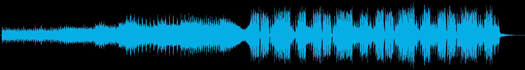 音が前面に出ている変則ビートの再生済みの波形