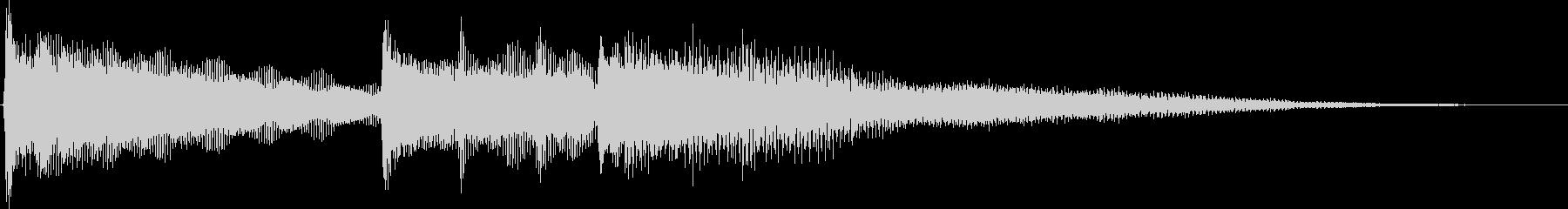 勇敢で優しいピアノジングルBGMの未再生の波形