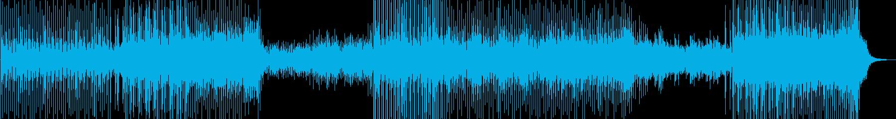 わずかなリズミカルなテクノとシンセ...の再生済みの波形