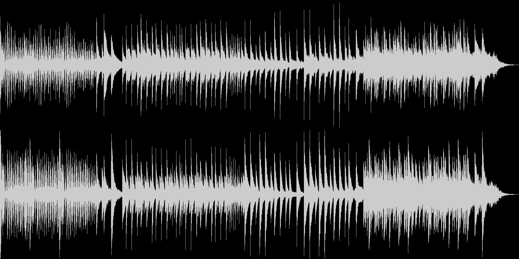 落ち着いた穏やかな可愛いピアノ曲の未再生の波形