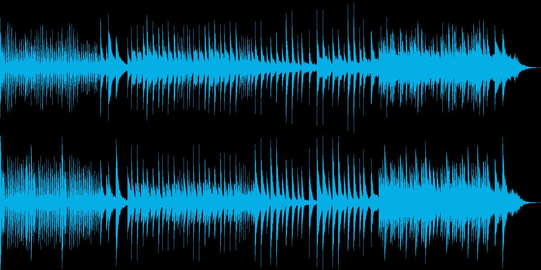 落ち着いた穏やかな可愛いピアノ曲の再生済みの波形
