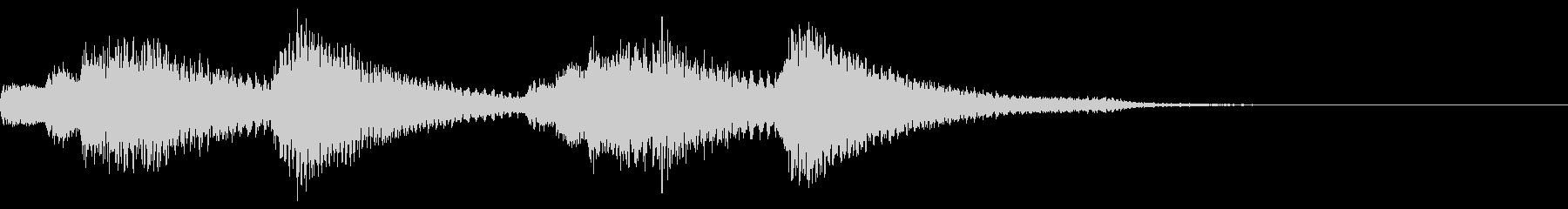軽快なピアノのジングル16の未再生の波形