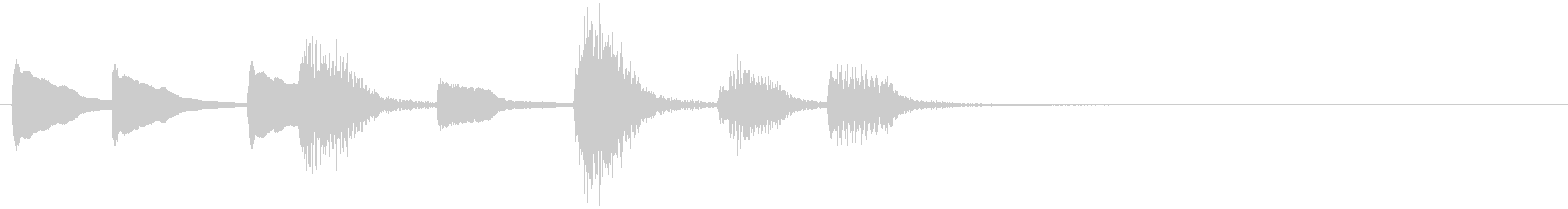 ジャズ ピアノ コミカルなオチ④の未再生の波形
