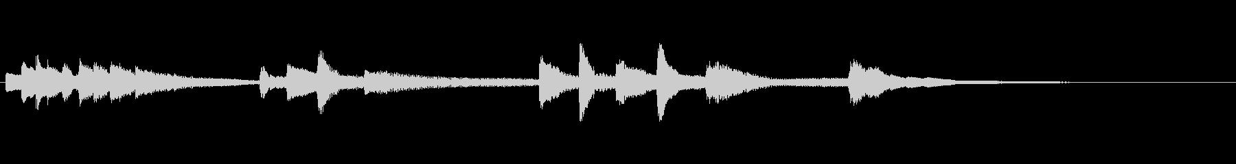 劇伴用~繊細な短いピアノのメロディ~の未再生の波形