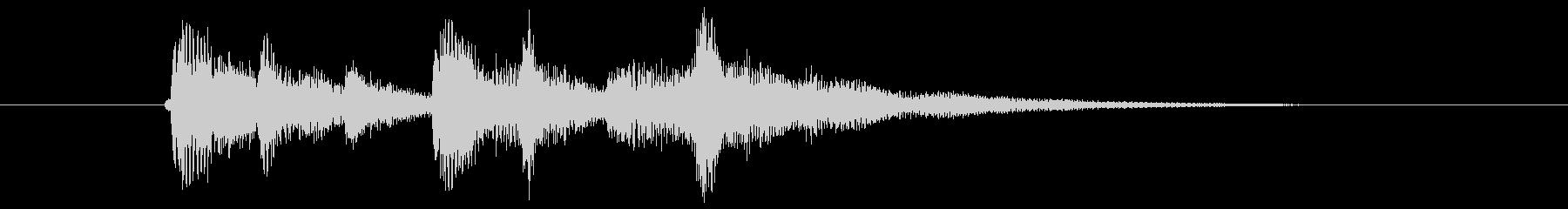 ビブラフォンが重なり合う深みあるポップスの未再生の波形