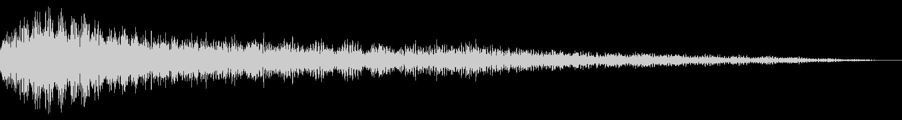ガーンガーン ホラーなピアノ 怖い音の未再生の波形