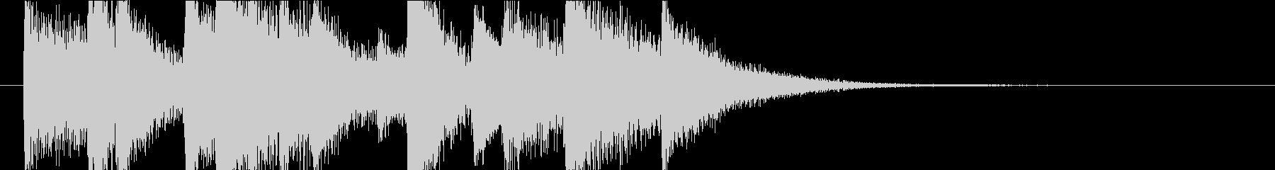 ジャズピアノのジングルの未再生の波形