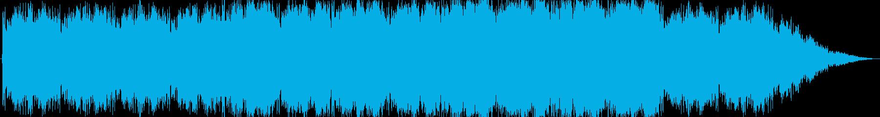 神秘的な雰囲気の曲の再生済みの波形