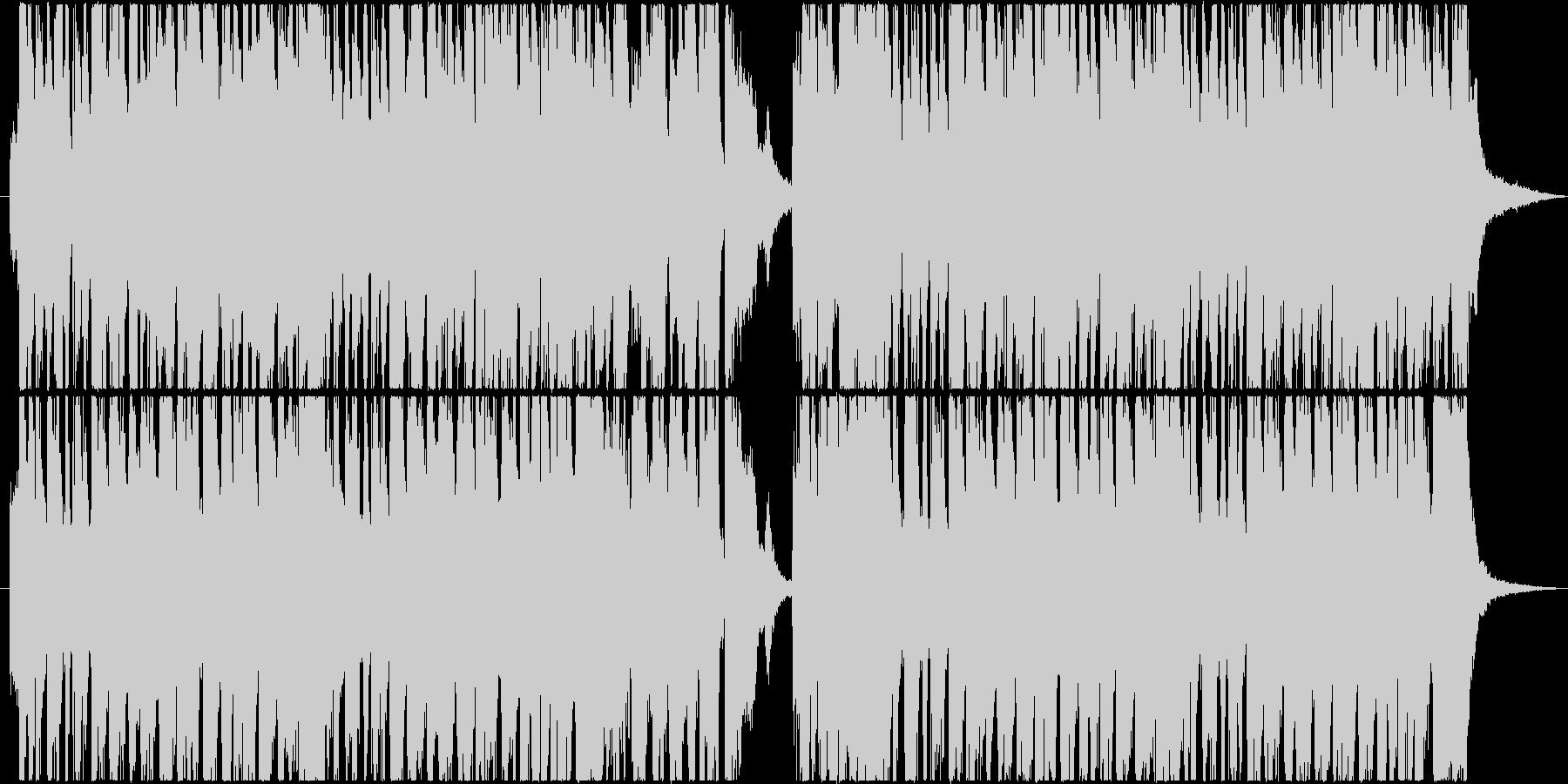 ポップで軽快なリズムの陽気で前向きな曲の未再生の波形