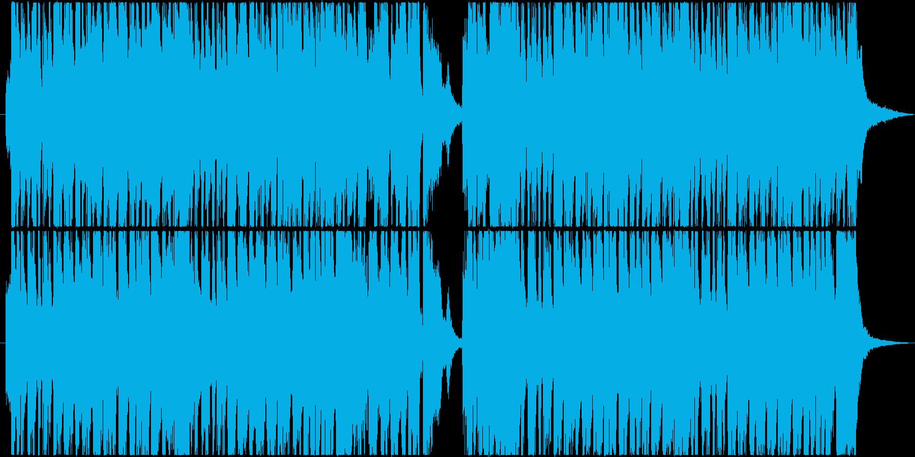 ポップで軽快なリズムの陽気で前向きな曲の再生済みの波形