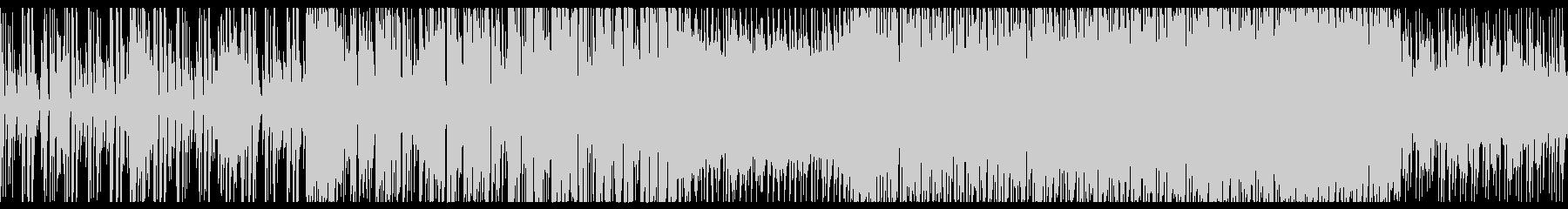 明るく元気の良いシンセのループBGMの未再生の波形