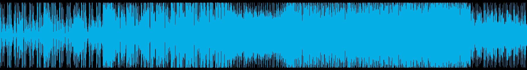 明るく元気の良いシンセのループBGMの再生済みの波形