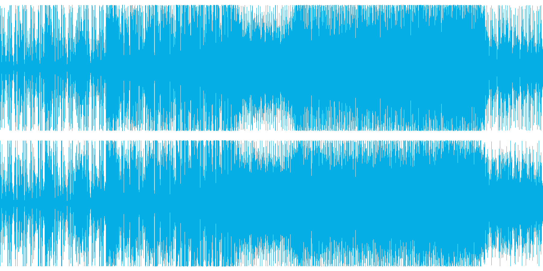 Bright and energetic synth loop BGM's reproduced waveform