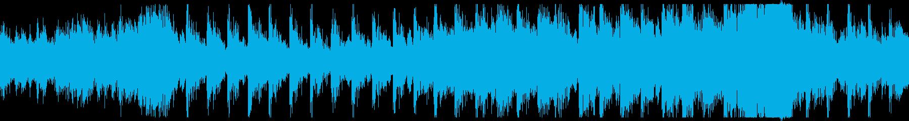 不穏・戦闘のBGM用オーケストラ曲ループの再生済みの波形