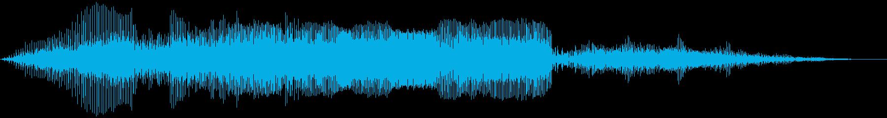 ダートバイクレースの再生済みの波形