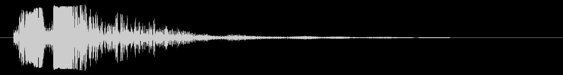 バシャッ(重ためのシャッター音)の未再生の波形