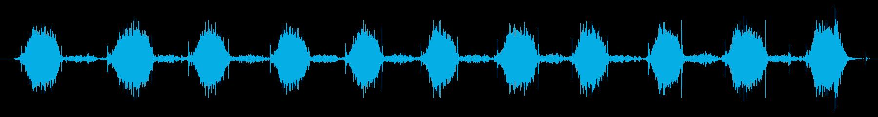 杖付き屋外液体ポンプ噴霧器:一定の...の再生済みの波形