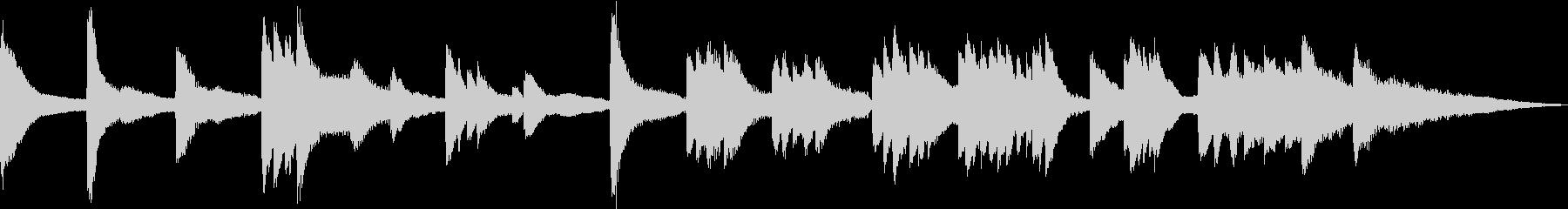 雨や雪が静かに降るイメージ(ピアノソロ)の未再生の波形