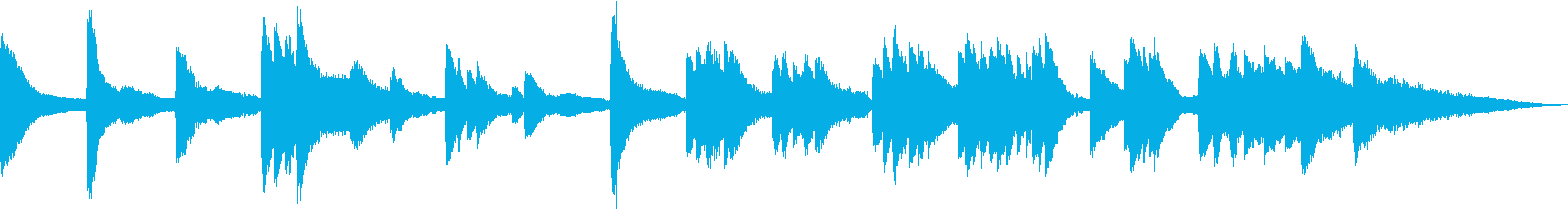 雨や雪が静かに降るイメージ(ピアノソロ)の再生済みの波形