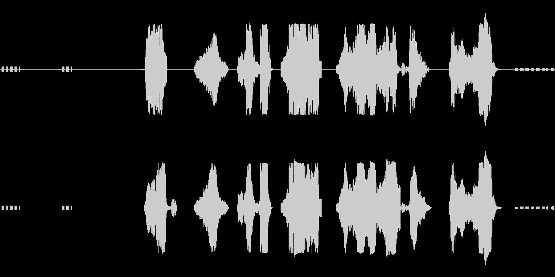 アーケードバッドガイの未再生の波形