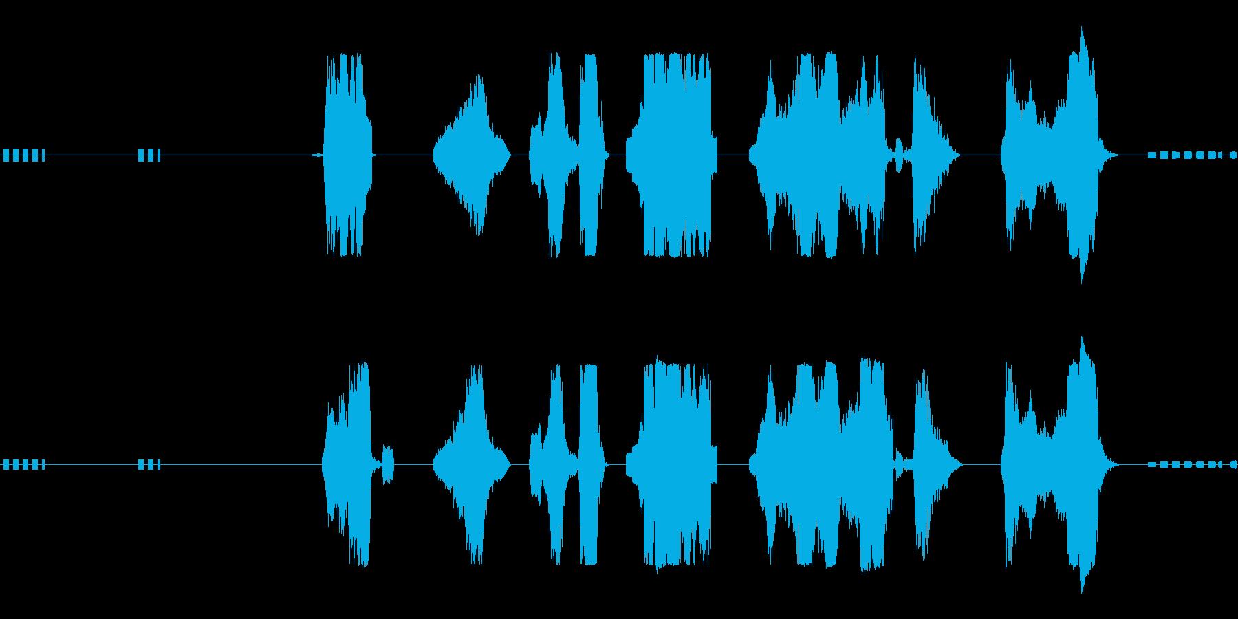 アーケードバッドガイの再生済みの波形